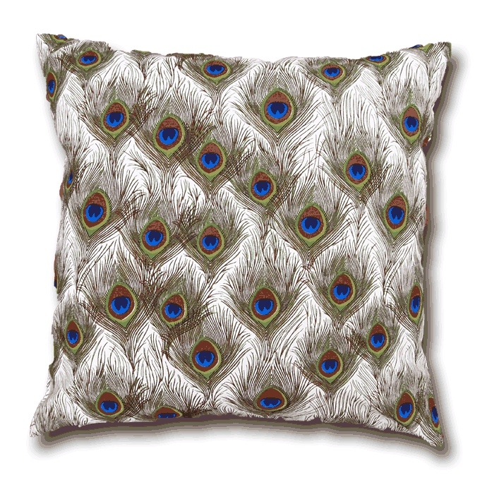 Peacock Feathers Cushion - www.lotsofcushions.co.uk
