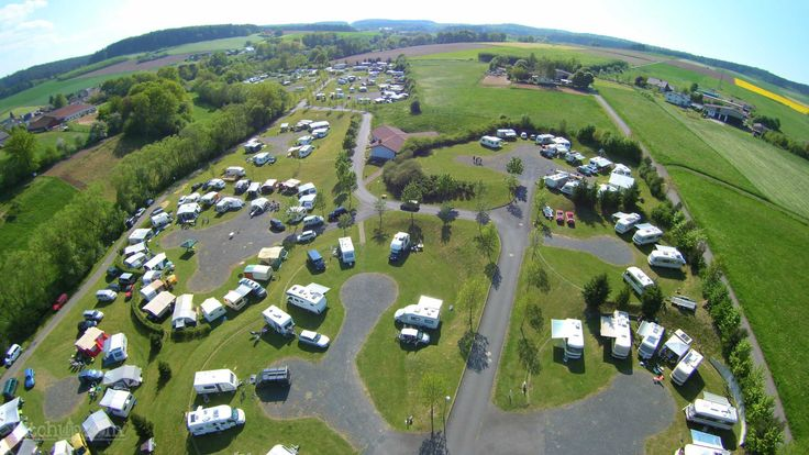Bird's eye view of Campingplatz Naumburg, Naumburg, Kassel - Pitchup.com