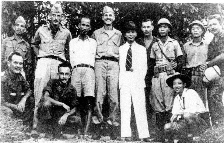 Ho Chi Minh (third from left, standing) with the OSS in 1945