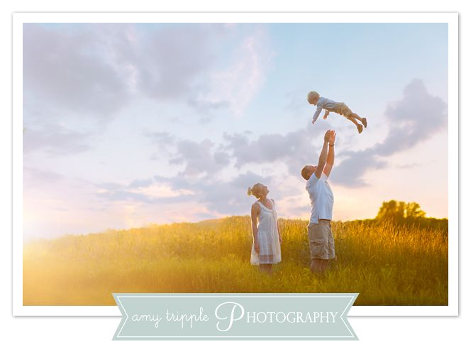 Family photo ideas, two year old photos. sunset