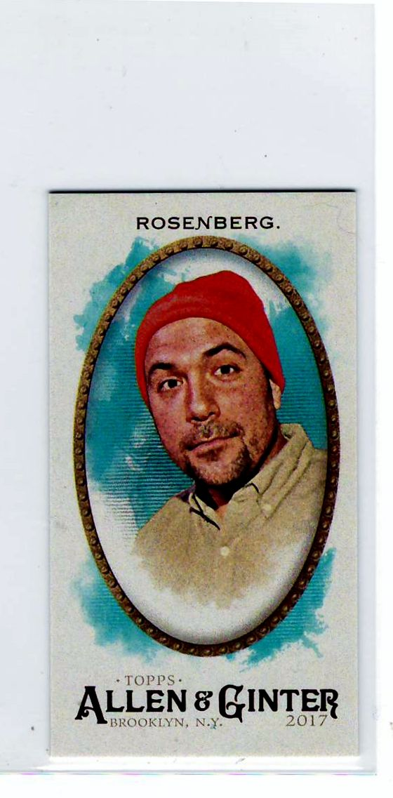 Peter Rosenberg (Radio DJ) 2017 Topps Allen & Ginter Mini – Trading Cards .. $0.25