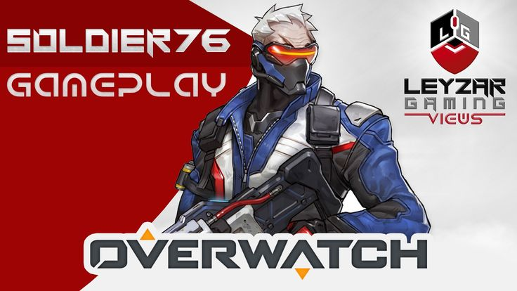 Overwatch Gameplay - Soldier 76 Offense Role (Closed Beta Soldier 76 Gam...
