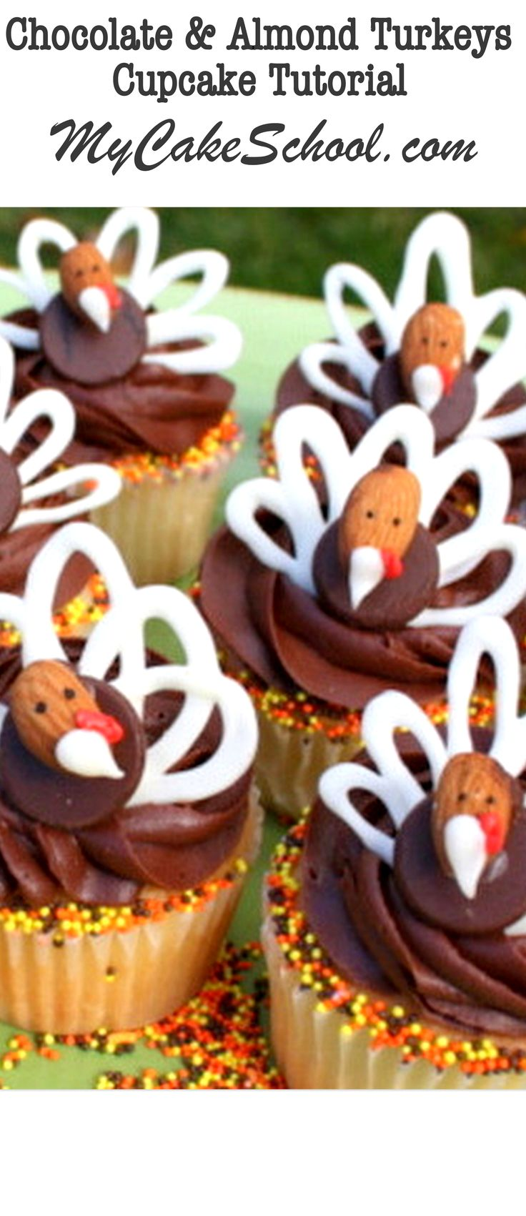 Thanksgiving cupcake decorations - Turkey Cupcake Toppers A Blog Tutorial