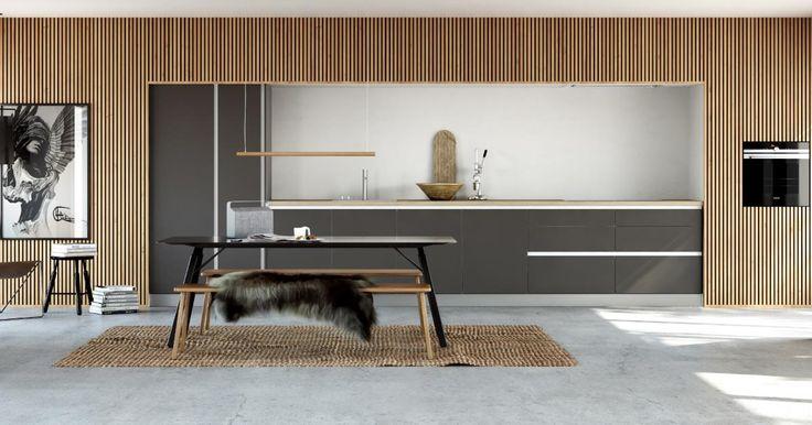 Med Kvik-kjøkkenet Tinta Grey får du et stilrent og funksjonelt kjøkken i skandinavisk og minimalistisk design.