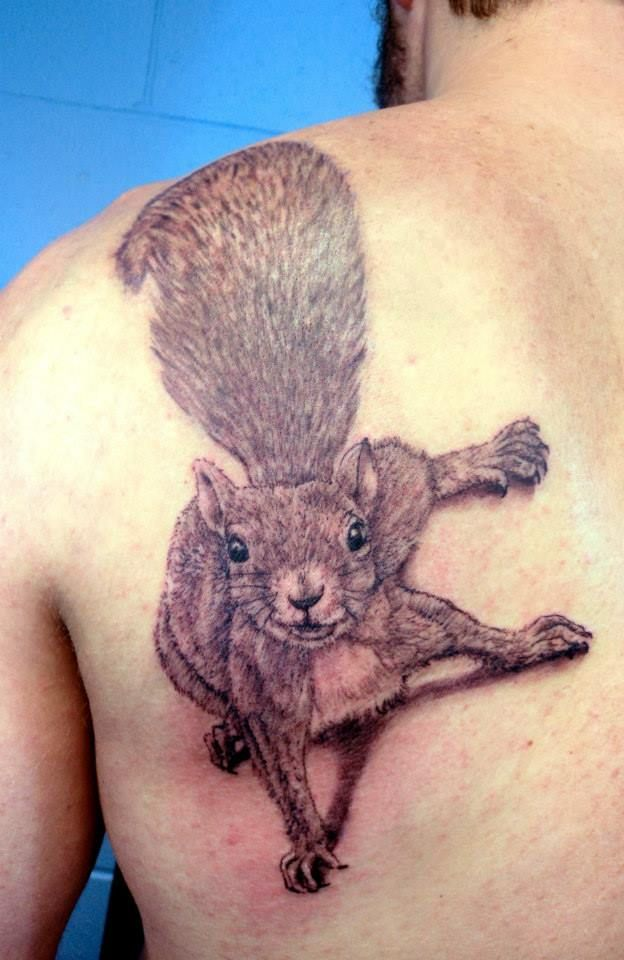 Squirrel Tattoo by Stevie Lange