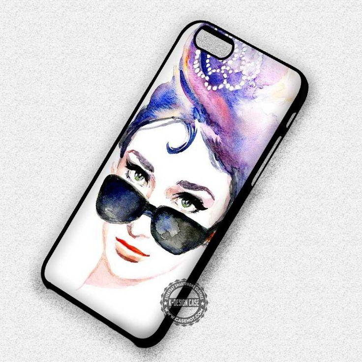 Art Paint in Sunglasses Audrey Hepburn - iPhone 7 6 5 SE Cases & Covers