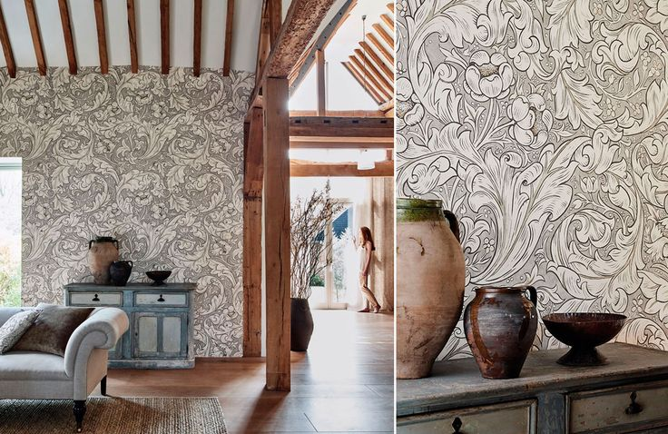 6-morris-pure-wallpaper-bachelors-button-details-vases-white-silver-nature-interiors
