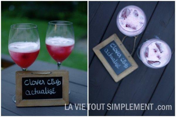 Cocktail Clover Club actualisé avec du gin Bombay Sapphire sur www.lavietoutsimplement.com