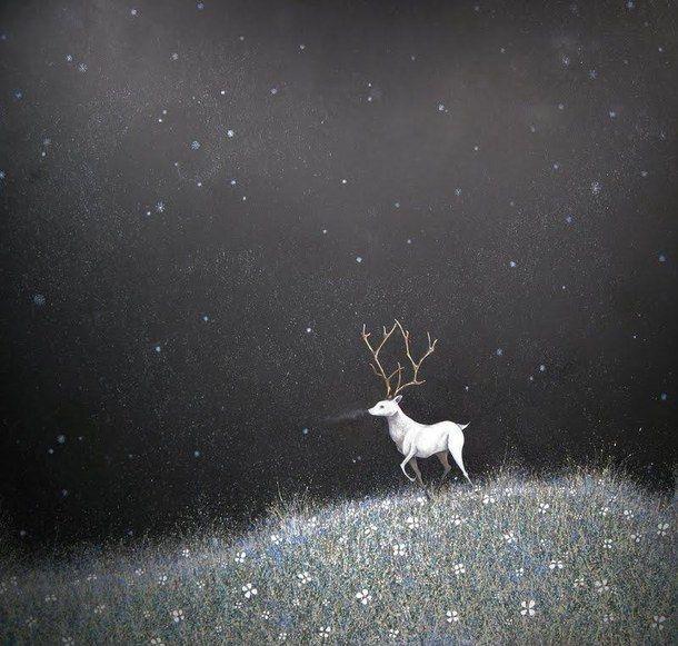 black-and-white-darkness-deer-fairytale-Favim.com-3033039.jpg (610×581)