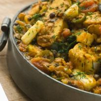 Vegetarian Dhansak Recipe - An authentic Pasri recipe which is a medley of garden fresh vegetables and lentils. It is usually made with mutton but this vegetarian version tastes as good!