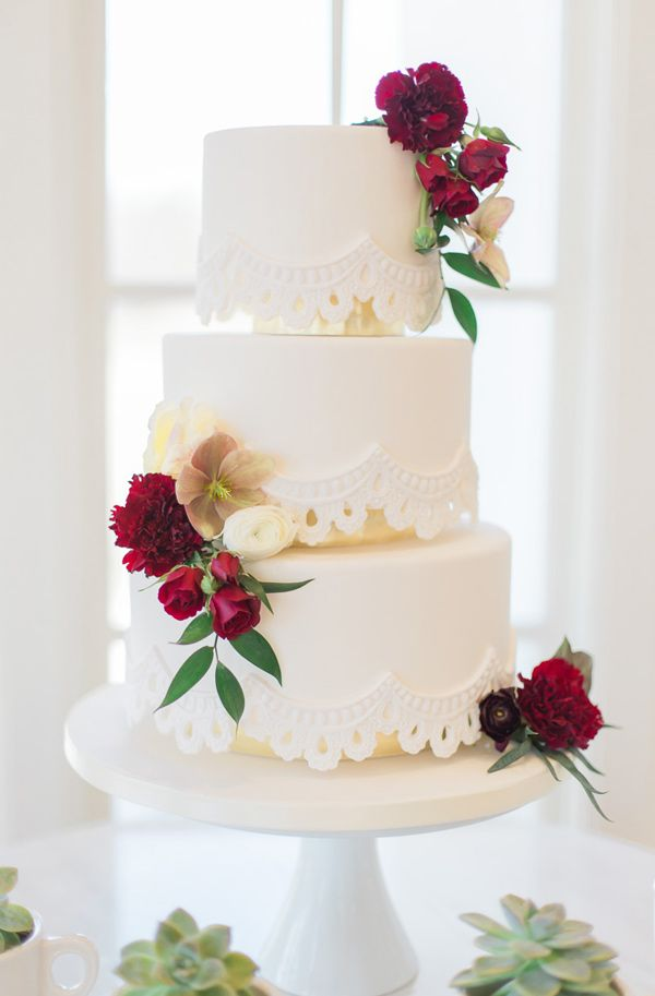 elegant latin hacienda styled wedding cake - photo by Maureen Pacheco Photography
