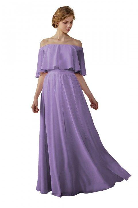 5085857ca580 Bohemian Style Off Shoulder Chiffon Bridesmaid Dress in 2019 ...