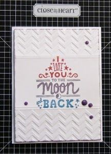 A Sprinkle of Glitter: CTMH Australasian Stamp of the Month Blog Hop - May 2014 - You've Got a Friend #ChevronEmbossingFolder