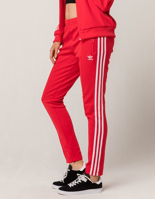 89349e21309 ADIDAS SST Womens Track Pants - RED - 314335300