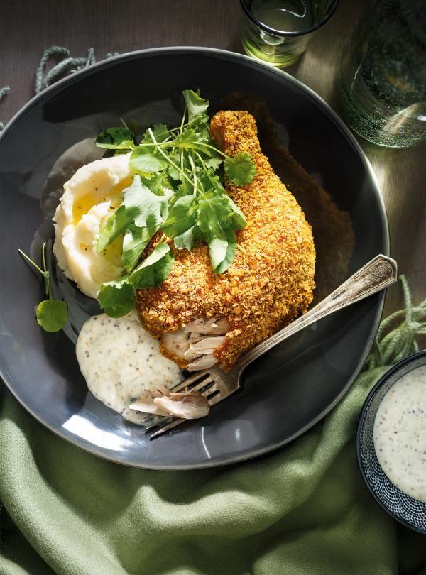 Cuisses de poulet aux flocons de maïs   RICARDO