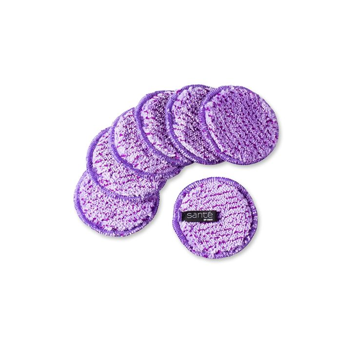Makeup Remover Set (7) - Lilac: the best fibre makeup removal. Natural and reusable makeup removal disc. No chemicals, just water.