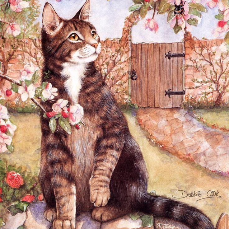 Кошки на картинах и картинках