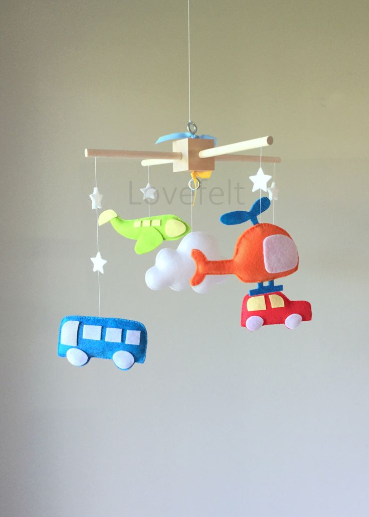 READY TO SHIP Baby Mobile - Baby Crib Mobile - Car Mobile - Airplane mobile - Transportation by lovefeltmobiles on Etsy https://www.etsy.com/listing/280844988/ready-to-ship-baby-mobile-baby-crib