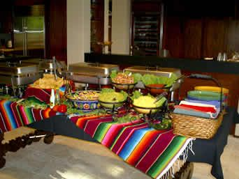 Mexican themed Buffet Set Up Ideas | Dinning Room Buffet
