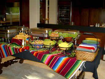 Mexican themed Buffet Set Up Ideas | Dinning Room Buffet