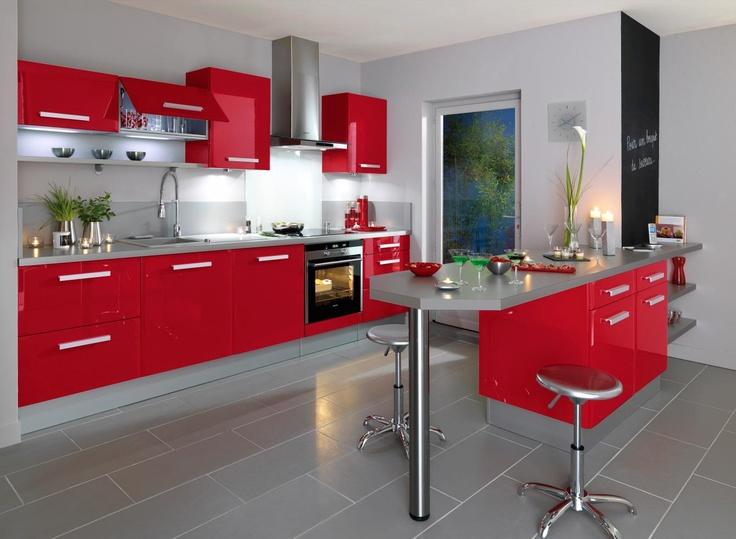 Petite Annonce Chambre Bebe :  Cuisine, Deco Cuisine, Idée Déco, Idées Déco, Cuisine Rouge, Deco