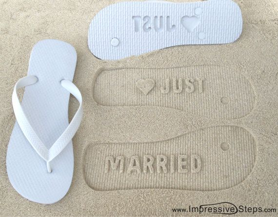 SOMEONE NEEDS TO BUY ME THESE!!!!! or I will :) Just Married Flip Flops by ImpressiveSteps on Etsy