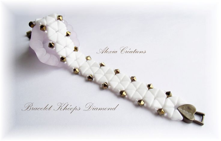 Khéops Diamond d'Alexia - Free tutorial - step by step  ~ Seed Bead Tutorials