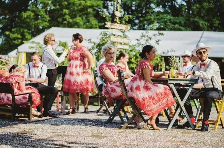 Bridesmaids and groomsmen weddinghappiness