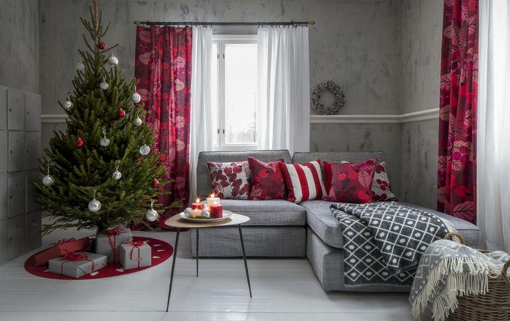 Ruusunmarja Fabric | Pentik Christmas 2017 |