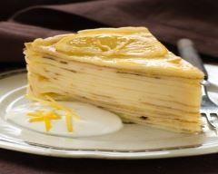 Gâteau meringué de crêpes au citron à ma façon