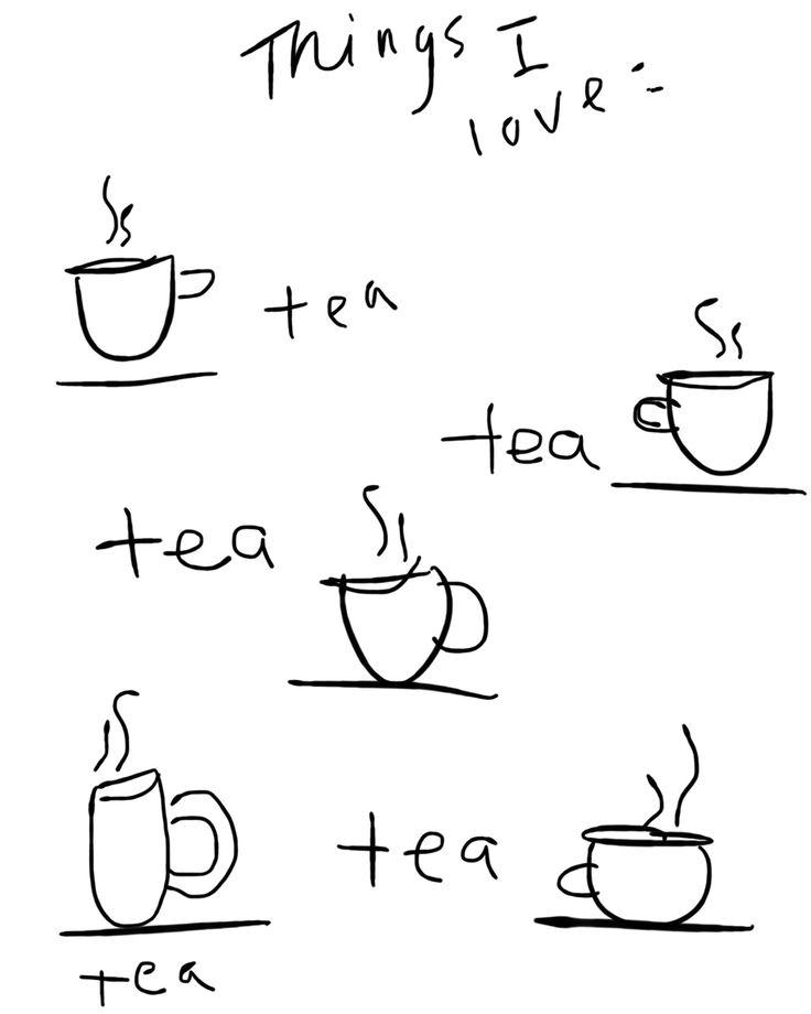 Tea tea tea tea//. So me! I begin and end the day with a cuppa tea!
