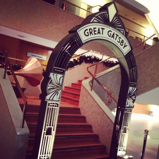 1920s Party Theme | Art Deco Party Props | Roaring Twenties Party Ideas: Art Deco Archway Entrance