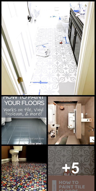Badezimmer Beispiele 10qm Linoleum Flooring Diy Flooring Bathroom Floor Tiles