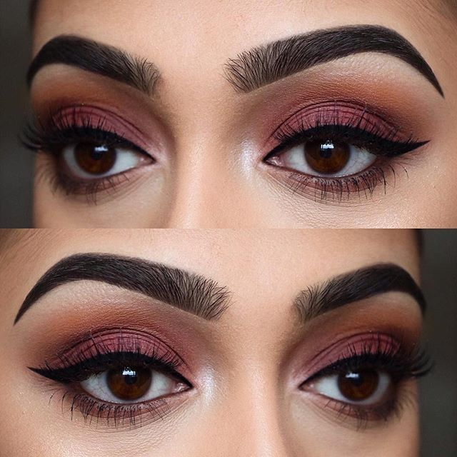 "#AnastasiaBrows @chelseasmakeup BROWS: #Dipbrow pomades in ""Ebony"" and ""Dark Brown"" EYES: Modern Renaissance palette #anastasiabeverlyhills #modernrenaissance"