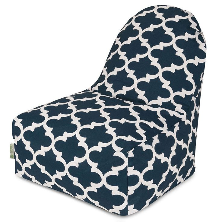Majestic Home Goods 85907227079 Navy Trellis Kick It Chair