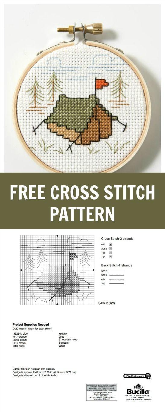 Tent free cross stitch pattern