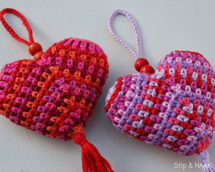 Corazón 3D, en crochet.