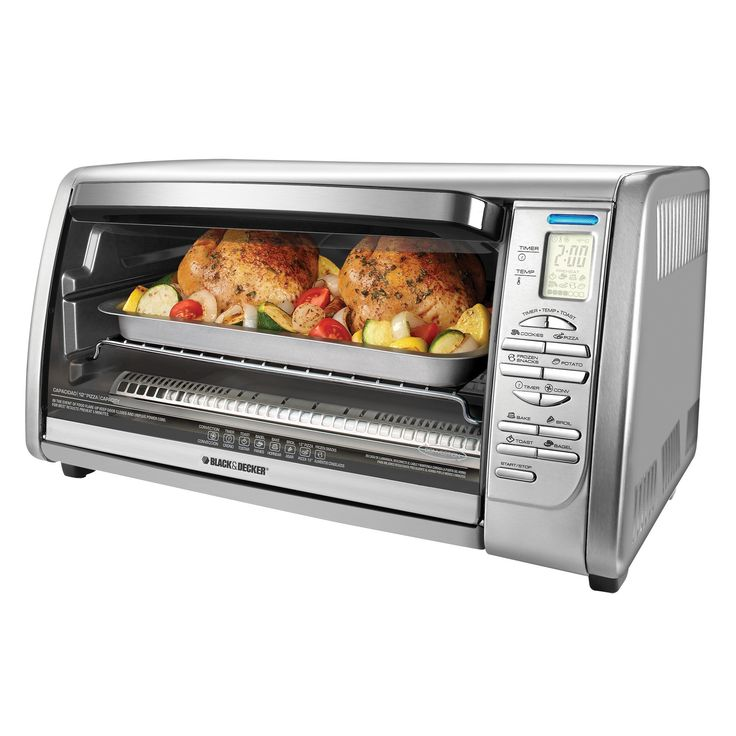 Amazon.com: Black & Decker CTO6335S Stainless Steel Countertop Convection Oven, Silver: Toaster Ovens: Kitchen & Dining