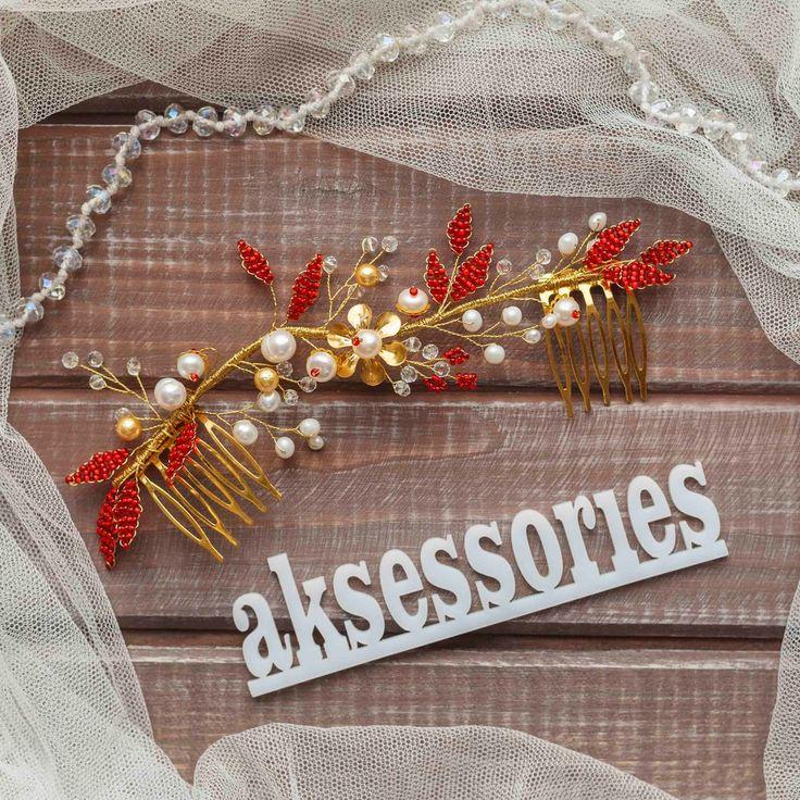 Свадебные гребни : Свадебный гребень с жемчугом Elza