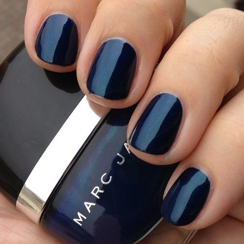 Marc Jacobs blue velvet blue nail polish.