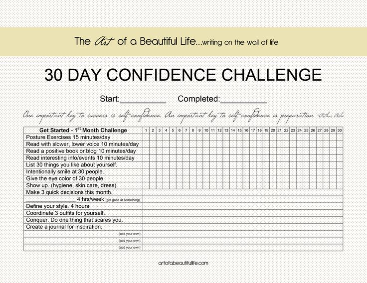 30 Day Confidence Challenge - Getting Started - How to Be Confident {BLOG} artofabeautifullife.com