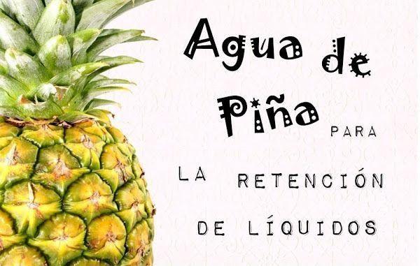 Agua de Piña para la retención de líquidos