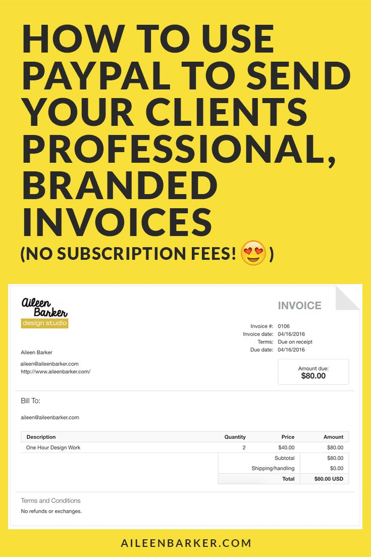 Step by step tutorial included! How to use Paypal to send your clients professional, branded invoices! The almost free (no subscription fee) way for freelancers, designers, entrepreneurs, etc. to send invoices and get paid by clients.