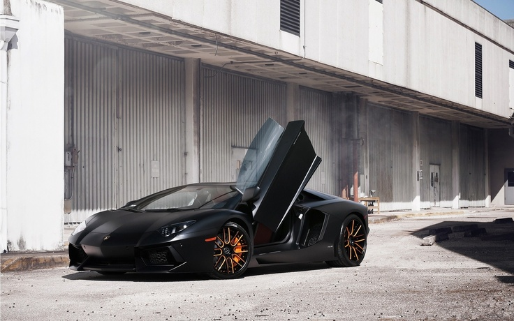 Lamborghini Aventador LP700-4 Black Car Photo HD Wallpaper