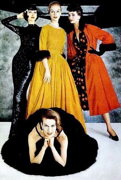 1956 evening dresses by Norman Norell,