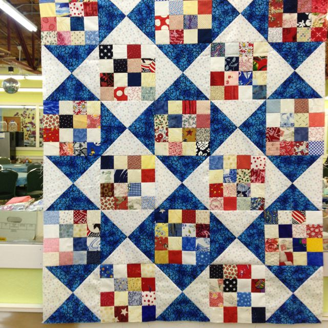 16 patch/hour glass quilt