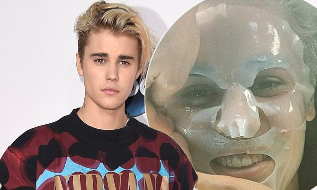 Justin Bieber, 21, has anti-ageing face mask for Grammys