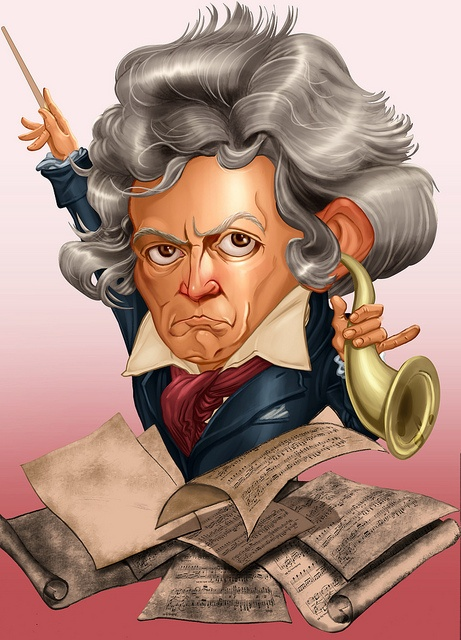Image result for Free Caricatures of Beethoven