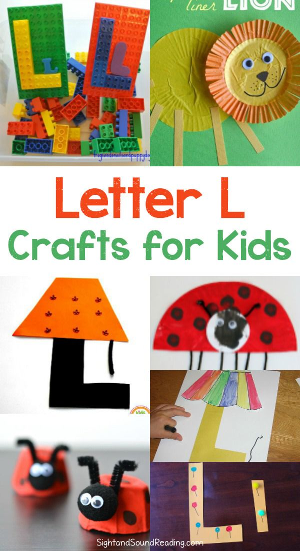 Letter L Crafts Letter L Crafts for preschool or kindergarten - Fun, easy and educational! Students will have fun learning and making these fun crafts!