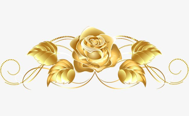 Golden Rose Rose Flower Flower Png And Vector With Transparent